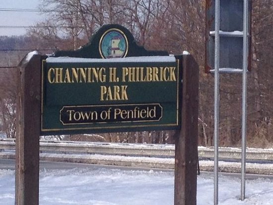 Penfield, NY: Park sign