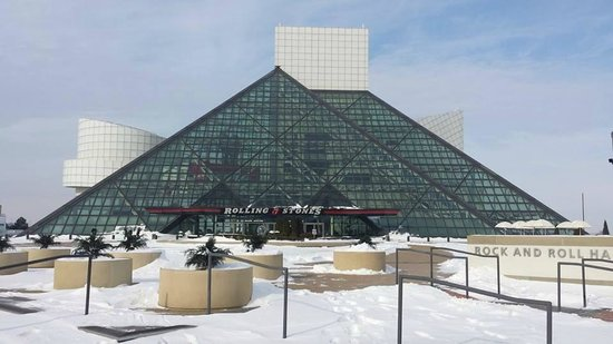 Rock & Roll Hall of Fame: The Holy Grail of Rock & Roll in the FRIGID Lake Erie air.