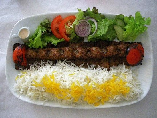 The Caspian: Kabab Makhsoos with rice