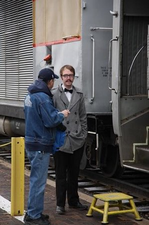 Grand Canyon Railway: Drew greeting my Brother