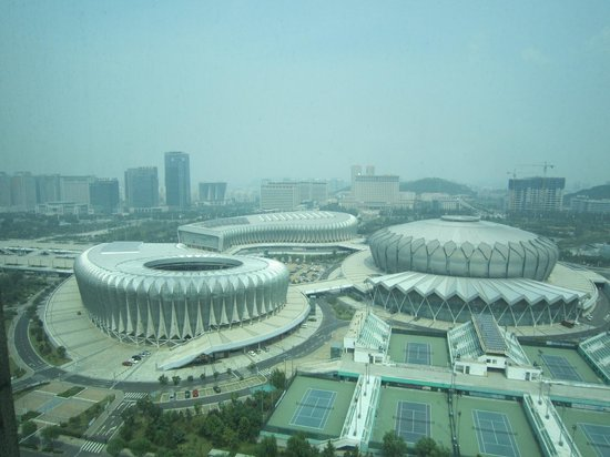 Sheraton Jinan Hotel: View on the Stadium from the Room