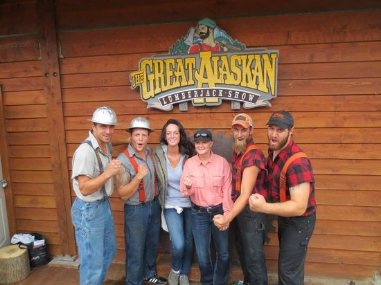 Great Alaskan Lumberjack Show: After the show with the Lumberjacks