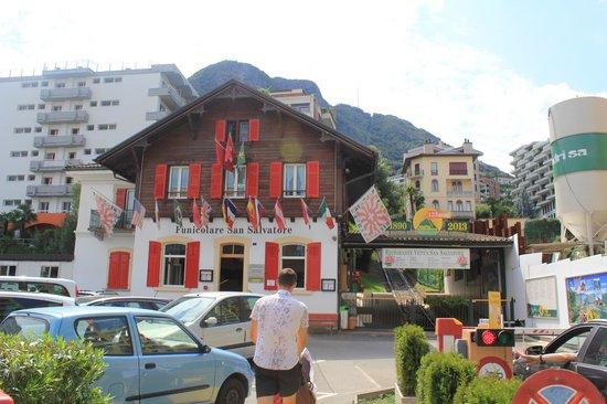 Monte San Salvatore: Фуникулер