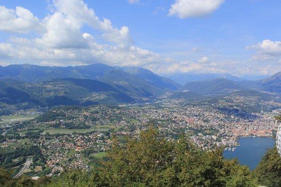 Monte San Salvatore: вид на город