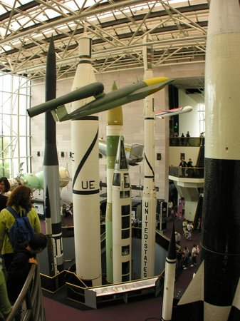 National Air and Space Museum : The German V-1, backgrounded by some American missiles