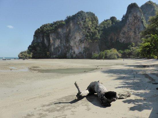 Krabi Thai Village Resort : railay beach low tide