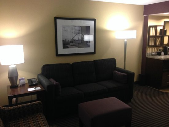 Embassy Suites by Hilton Hotel Des Moines Downtown: Living Room