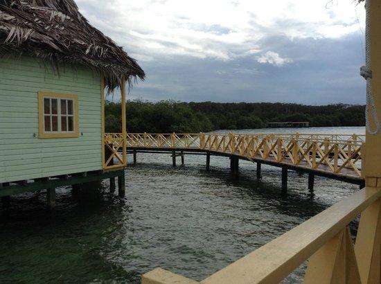 Punta Caracol Acqua Lodge: habitacion en el mar