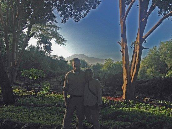Amboseli Serena Safari Lodge : The elusive Mt. Kilimanjaro