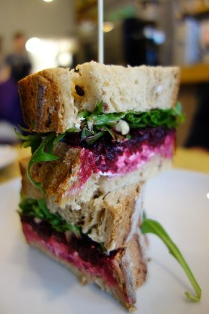 Southsea Coffee Co: Goat's cheese, beetroot and hazelnut with balsamic