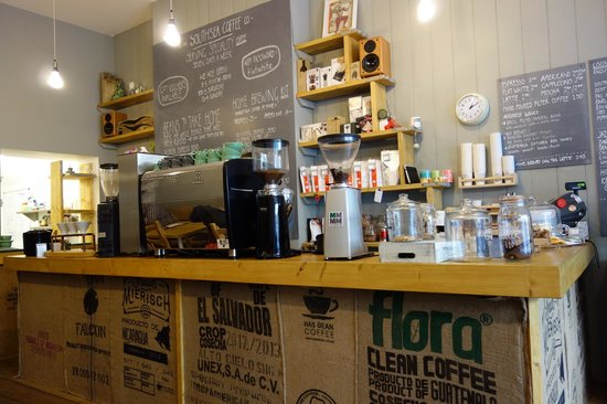 Southsea Coffee Co: The coffee counter
