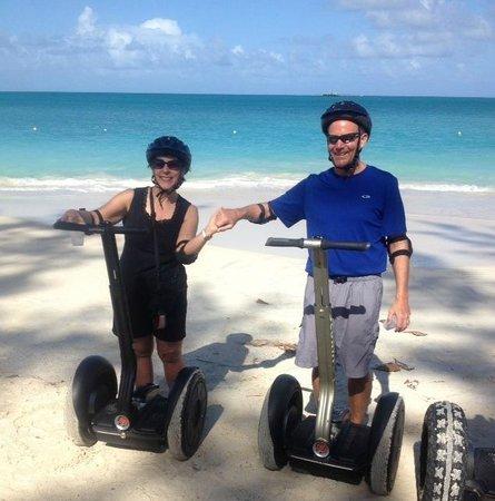 Segway Antigua Tours: Beach riding!