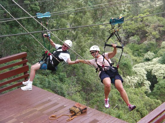 Piiholo Ranch Zipline: Good times at the end of a line