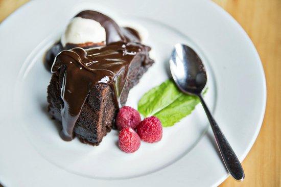 chocolate cake w/ chocolate ganache