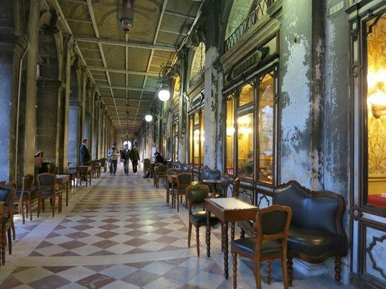 Caffe Venecia Ltd: Caffe Florian a historical coffee bar in st Mark's Square Venice ( check out the floor )