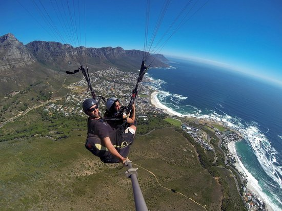 Fly Cape Town Paragliding: GoPro camera from above
