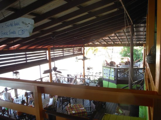 Serenity Vacations and Tours: Ti Kaye Village restaurant at the beach