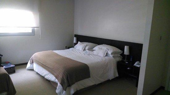27 Suites: Cama bem confortável...