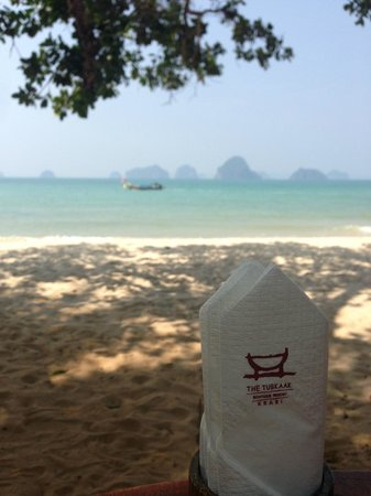 The Tubkaak Krabi Boutique Resort : View from beachfront restaurant