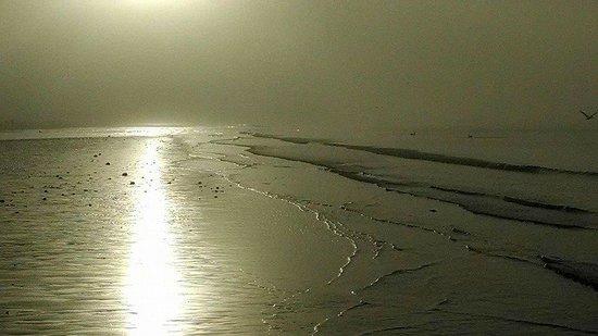 DiamondHead Beach Resort Hotel: Sunrise through the mist