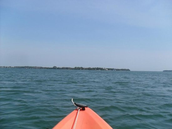 South Bass Island: Kayaking around an island, we could see the other islands nearby.