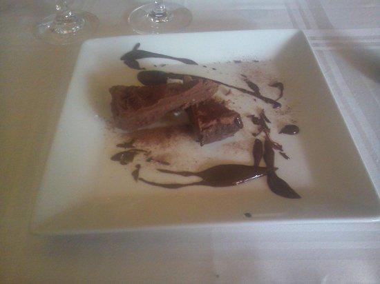 Restaurant Vilanova: Postre Chocolate
