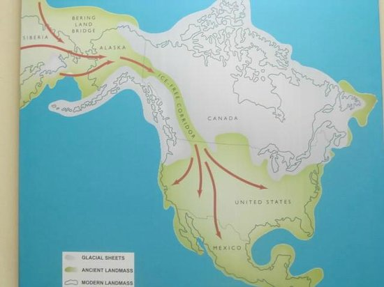 Museum of Belize: Map that shows the migration of the people we now call Mayans