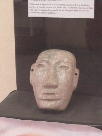 Museum of Belize: Jade mask found at the Altin Ha Mayan site