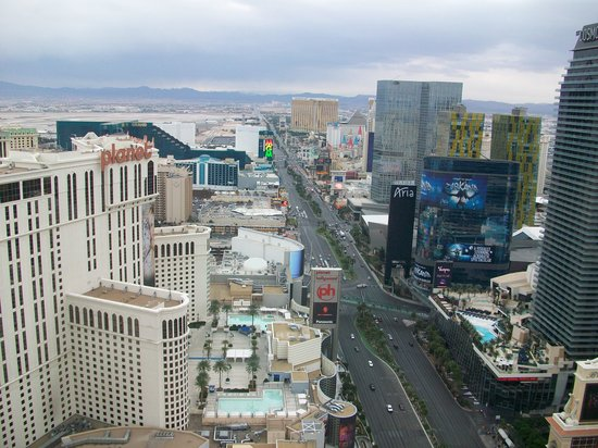 Eiffel Tower Experience at Paris Las Vegas : view from the top
