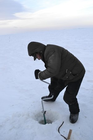 Ulan Ude Travelers House: ice fishing