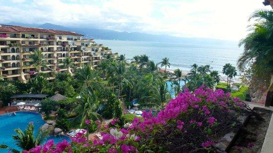 Velas Vallarta: View from Top Floor Room of Resort and Bay