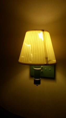 Riverview Inn & Suites: Time to change lampshades.