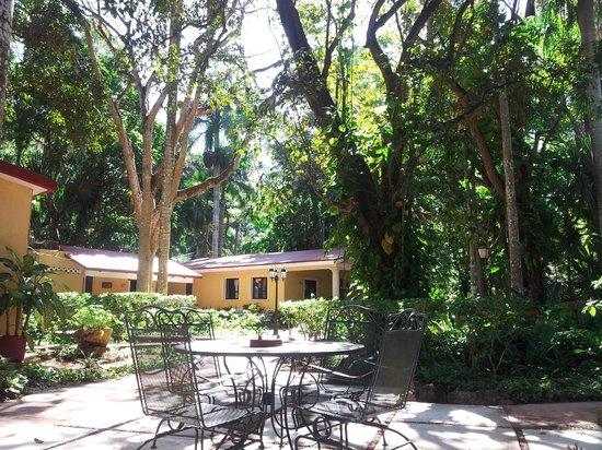 Hacienda Chichen: vue de notre chambre