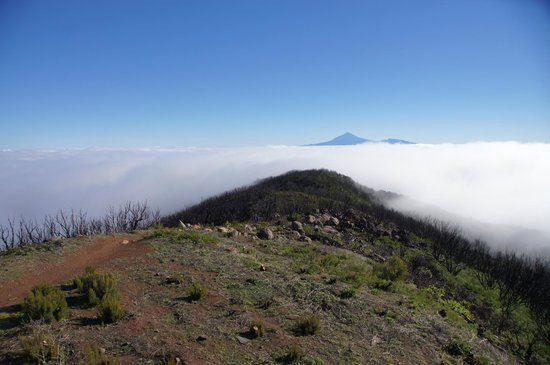 Alto de Garojonay: Über den Wolken, Blick auf den Teide/ Teneriffa