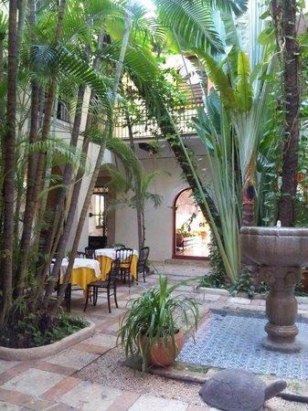 Hotel Casa del Balam : le hall d'entrée de l'hôtel