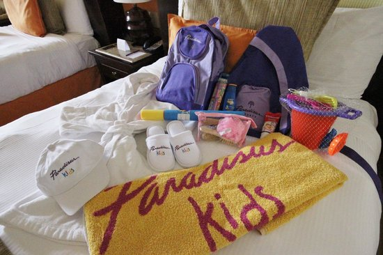 Paradisus Cancun: Some of the goodies for kids in Family Concierge