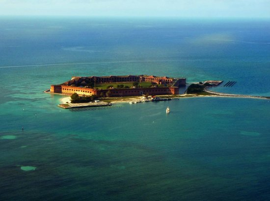 Dry Tortugas National Park: Aerial View of Fort Jefferson