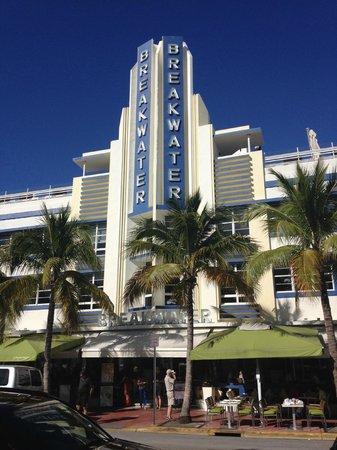 Art Deco Historic District: Breakwater Hotel Prime Example of Art Deco Architecture