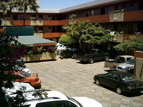 Azteca Inn: View of Bar and Parking area