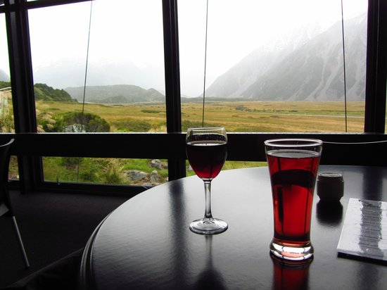 Mt Cook Lodge and Motels: view from dining room