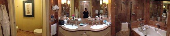 Four Seasons Hotel Singapore : Panoramic of the bathroom