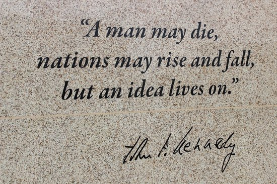 JFK Tribute: JFK Quote Inscribed on the Tribute Wall