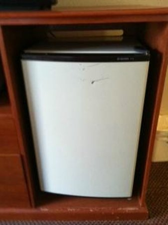 Super 8 Georgetown: Beat-up mini-fridge