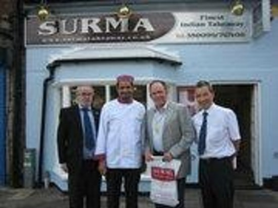 Surma Takeaway: With the Mayor of Stevenage after wining rhe BFFF 2008