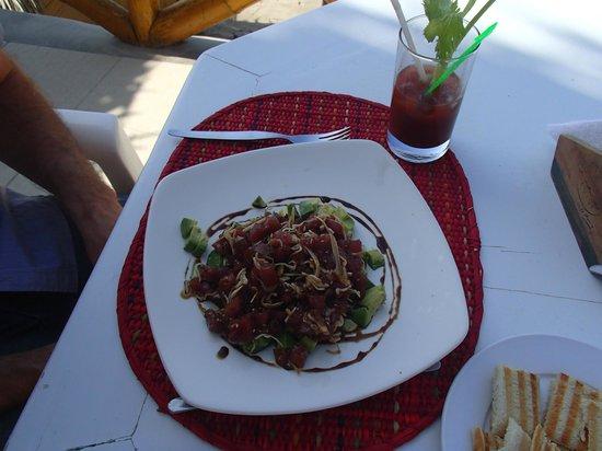 Hotel Casa de Playa: Delicious fresh tuna salad