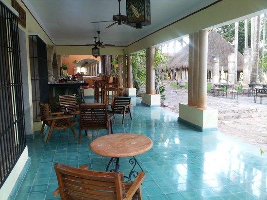 Hotel Hacienda Uxmal Plantation & Museum: espace bar