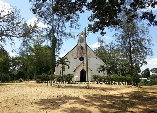 Rabai Museum: Die St Paul's Church (die 'neue' Kirche in Rabai)