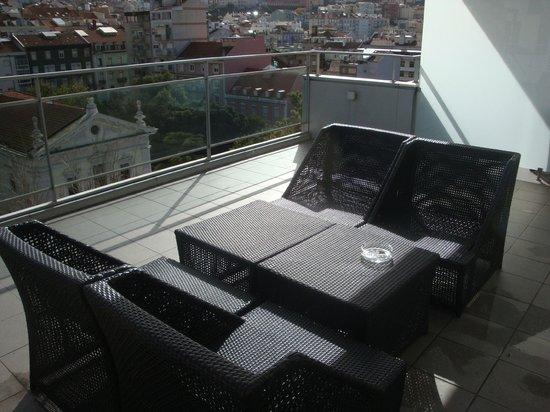 Lisbon City Hotel : terrasse panoramique au 7ème étage