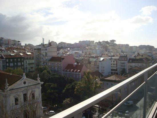 Lisbon City Hotel: vue depuis la terrasse