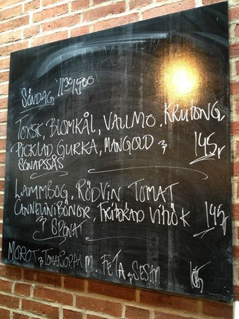 Smak Malmo Konsthall: The menu for our Sunday Brunch